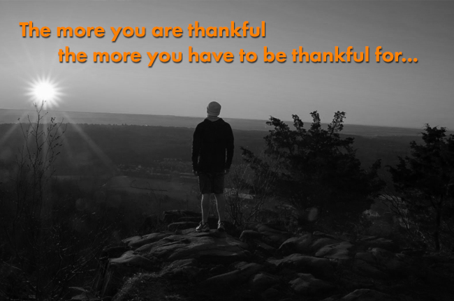 the more you are thankful